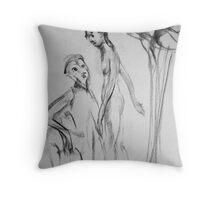 Adam and Eve Throw Pillow