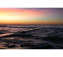 Sunrise at Bar Beach Newcastle Photographic Print