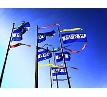 Flags at Pier 39 Photographic Print