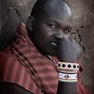 Masai  Warrior in Africa by maureenclark