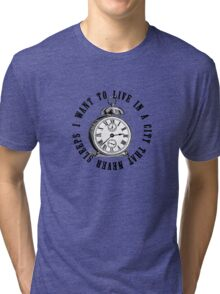 New York The City That Never Sleeps Tri-blend T-Shirt