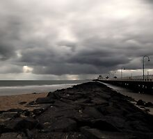 Storm is coming, St Kilda Pier,Melbourne,Australia by Max R Daely
