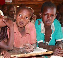 Masai children in School by maureenclark