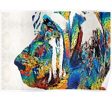 Colorful Bloodhound Dog Art By Sharon Cummings Poster