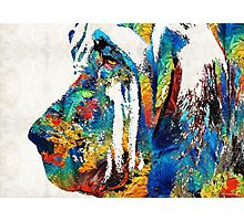Colorful Bloodhound Dog Art By Sharon Cummings Photographic Print