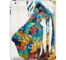 Colorful Bloodhound Dog Art By Sharon Cummings iPad Case/Skin