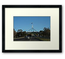 Parliament House View From the Road Framed Print