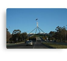Parliament House View From the Road Canvas Print