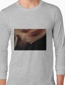 water drop on the petal Long Sleeve T-Shirt
