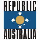 New Australian Flag for a New Australian Republic by Kim  Lynch