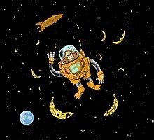 Space Chimp by teepeebrambles