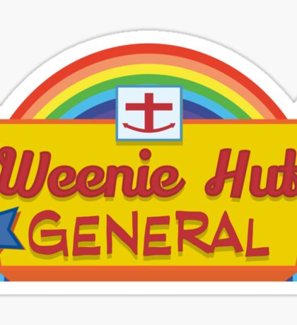 Weenie Hut General Sticker