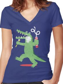 Squeaky Clean Fun Women's Fitted V-Neck T-Shirt