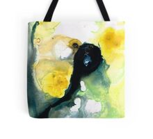 Yellow And Green Abstract Art - Into The Light - Sharon Cummings Tote Bag