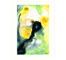 Yellow And Green Abstract Art - Into The Light - Sharon Cummings Art Print