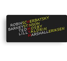 How I Met Your Mother Cast Line-Up Canvas Print
