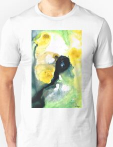 Yellow And Green Abstract Art - Into The Light - Sharon Cummings T-Shirt