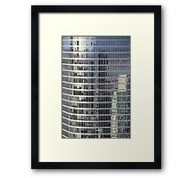 Reflections. Skyscraper Detail from Harbour Tower, Vancouver City, Canada.  Framed Print