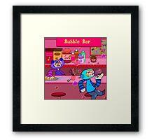 Bubble Bar Framed Print