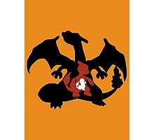 Charmander - Charmeleon - Charizard Evolution Photographic Print