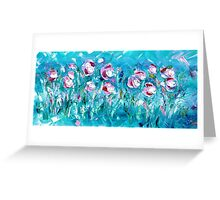WATER FLOWERS FOR NEIL,  by Janai-Ami Greeting Card