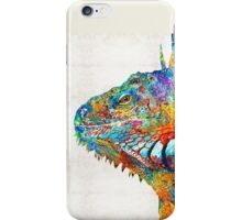Colorful Iguana Art - One Cool Dude - Sharon Cummings iPhone Case/Skin