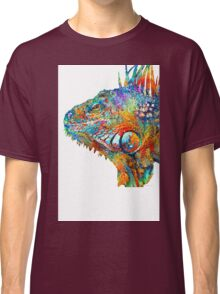 Colorful Iguana Art - One Cool Dude - Sharon Cummings Classic T-Shirt