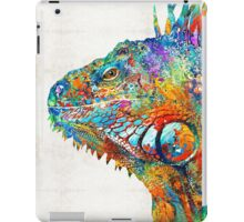 Colorful Iguana Art - One Cool Dude - Sharon Cummings iPad Case/Skin