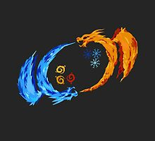 Fire and Ice Dragon Yin Yang  by Jack Rinderknecht