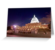 The United States Capitol at Night Greeting Card