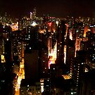 Hong Kong Nighttime Cityscape by Cody McKibben