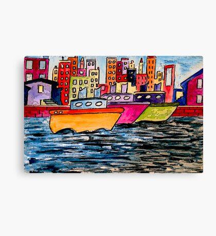 Tugboats Online Canvas Print