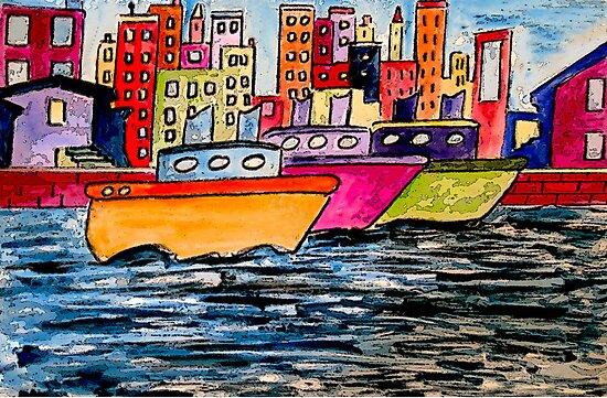 Tugboats Online by Monica Engeler