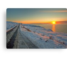 Winter sunset over Gairloch (hdr vers) Canvas Print