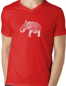 Elephant Baby Mens V-Neck T-Shirt
