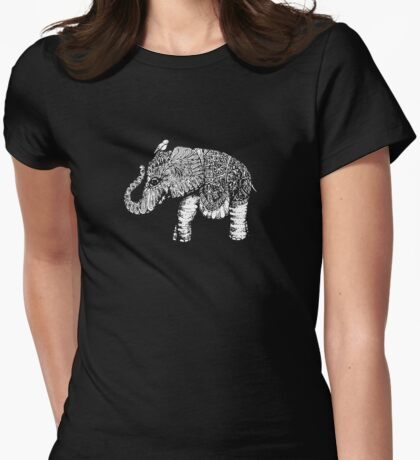 Elephant Baby Womens Fitted T-Shirt
