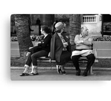 Cannes Film Festival, Bench Canvas Print