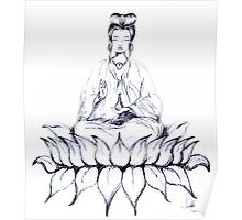 KUAN YIN - Bodhisattva of Love & Compassion Poster