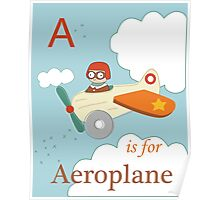 A is for Aeroplane Poster