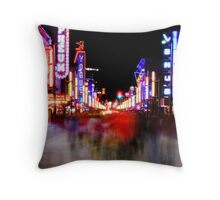 Redlight District  Throw Pillow