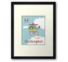 H is for Helicopter Framed Print