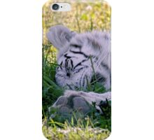 Sleeping White Tiger iPhone Case/Skin