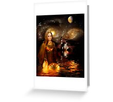 Once Upon a Golden Dream Greeting Card