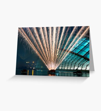 Fireworks display - Lines of fire II Greeting Card