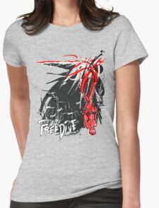 Freedive the Deep Blue - red abstract Womens Fitted T-Shirt