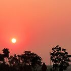 Setting Sun over Calcutta by Braedene