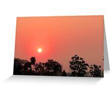 Setting Sun over Calcutta Greeting Card