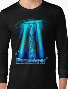 Freediving with Penetrator fins Long Sleeve T-Shirt