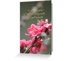 Hope, Faith, Strength; Wat Garden La Mirada, CA USA Greeting Card