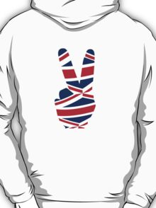 British  Peace Sign T Shirt T-Shirt
